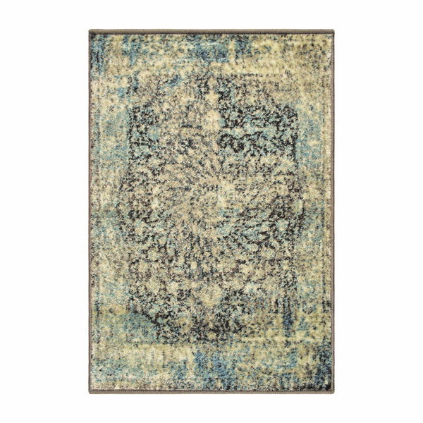 Zelda Indoor Area Rug, Oriental Pattern, Distressed, Vintage