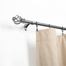 Helix Adjustable Expandable Iron Powder Coated Charcoal Curtain Rod