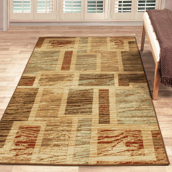 Fiore Indoor Area Rug, Floral Design, Oriental, Modern Style