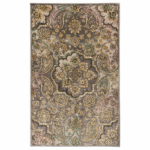 Cypress Indoor Area Rug, Floral and Paisley Pattern, Oriental, Jute Backing