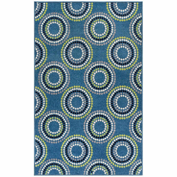 Burgess Area Rug, Concentric Circles Pattern, Casual