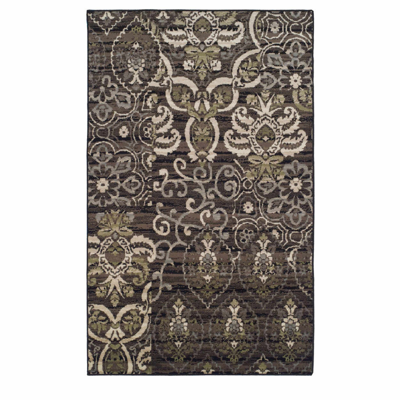 Caldwell Transitional Floral Damask Rug