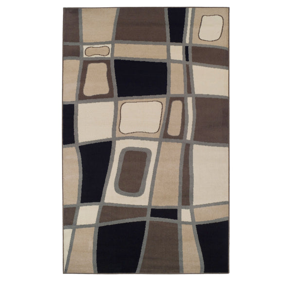 Cobble Area Rug, Cobblestone Pattern, Abstract, Modern Setting