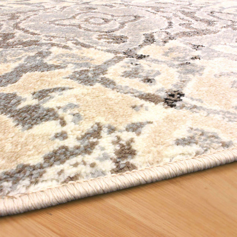 Corbin Modern Damask Contemporary Rug