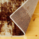 Distressed Industrial Style Abstract Rug