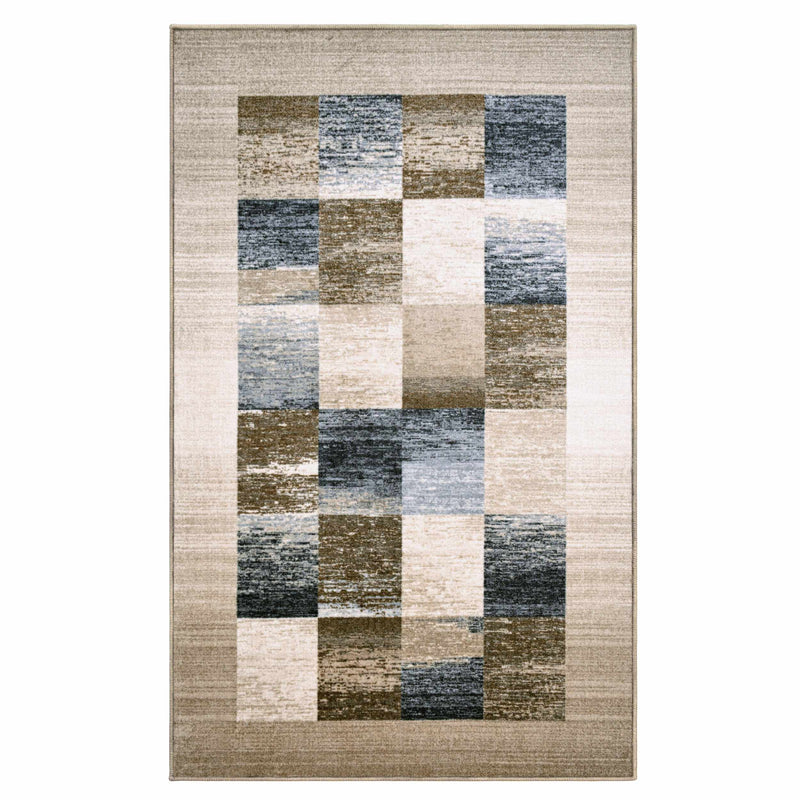 Lockwood Non-Slip Foldable Geometric Machine-Washable Rug