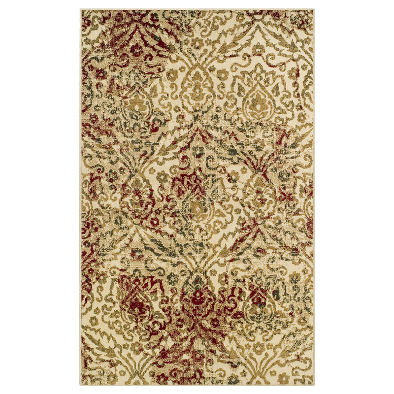 Ophelia Area Rug, Oriental, Floral, Lattice, Vintage