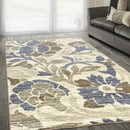 Roselyn Non-Slip Foldable Floral Machine-Washable Rug