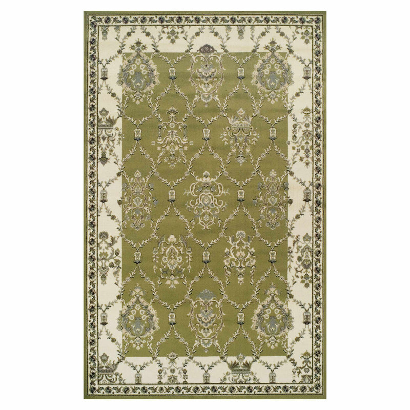 Stratton Area Rug, Floral Damask Pattern, Vintage Style