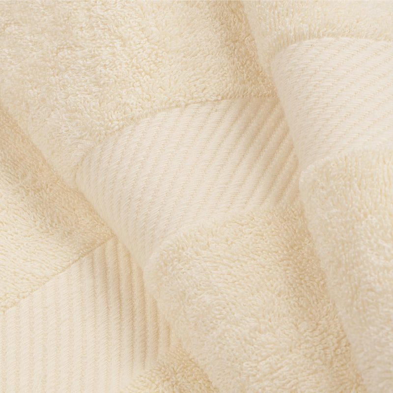 Egyptian Cotton 500 GSM Right Hash Dobby Border 12-Piece Towel Set