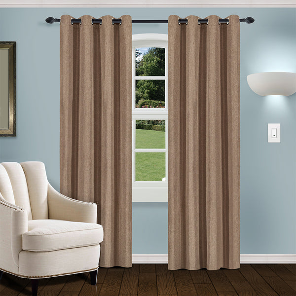 SUPERIOR LINEN BLACKOUT 2 PANEL CURTAINS