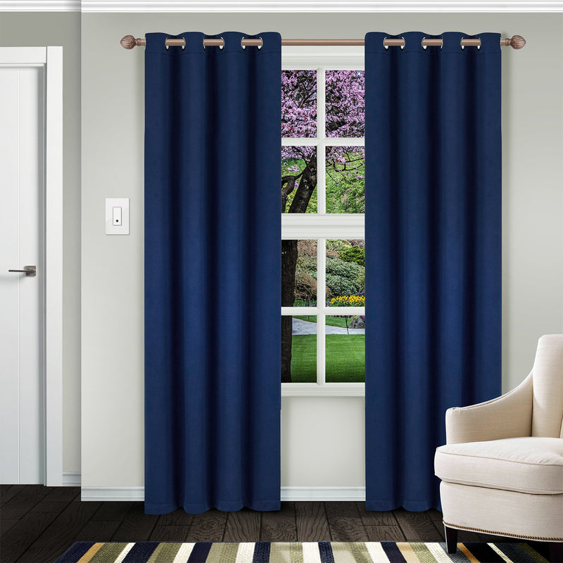 SUPERIOR CLASSIC SOLID BLACKOUT 2 PANEL CURTAINS