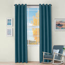Jaxon Room Darkening Noise Reducing  Basket Weave Blackout Curtain Set