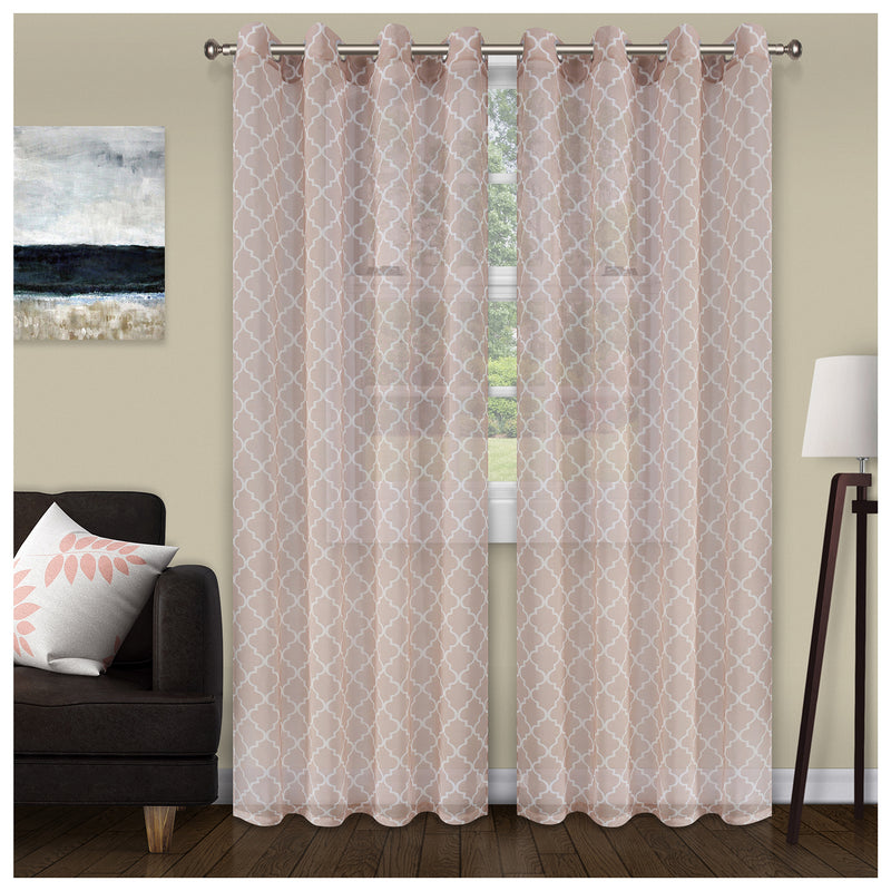 SUPERIOR TRELLIS 2 PANELS SHEER CURTAINS