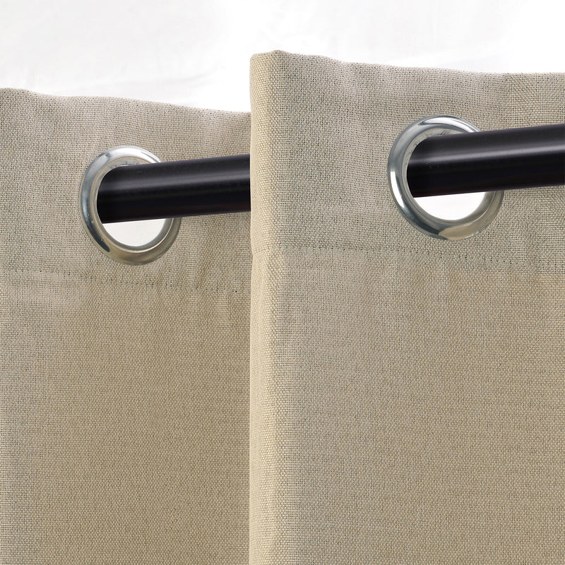 Linen Room Darkening Noise Reducing Thermal Blackout Curtain Set