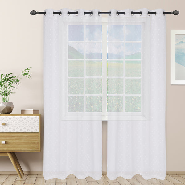 Superior Poppy Sheer Panel Curtains (Set Of 2)