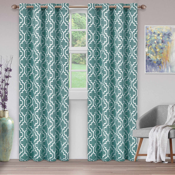Superior Trellis Blackout 2 Panel Curtains