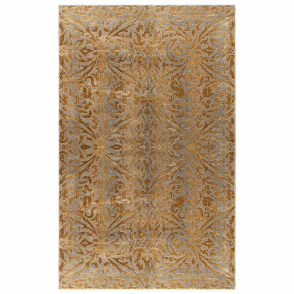 Cressida Indoor Area Rug, Iridescent, Damask Pattern, Distressed, Traditional