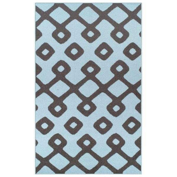 Diamond Pave Area Rug, Trellis, Moroccan Style, Contemporary