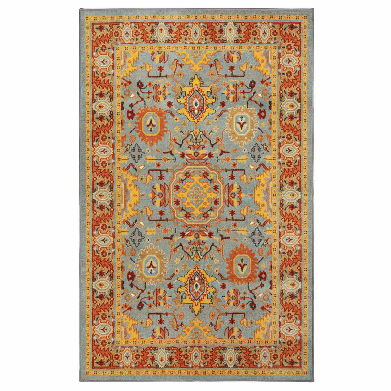 Hadar Non-Slip Foldable Oriental Traditional Rug