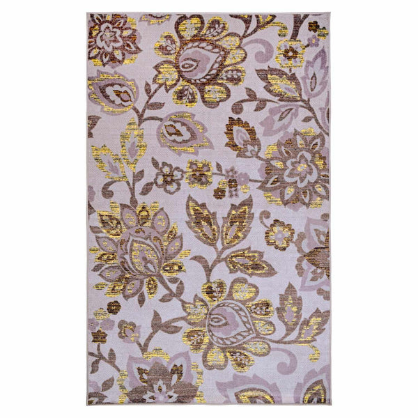 Jezabel Area Rug, Oversized Floral Motifs, Contemporary