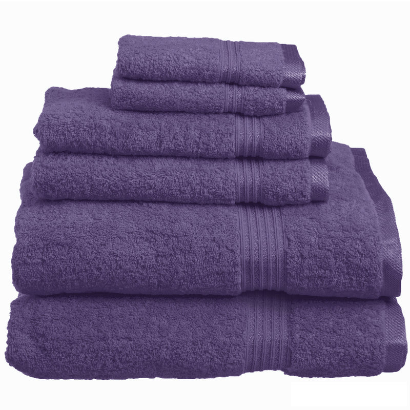 100% Cotton 6-Piece Bath Towel Set