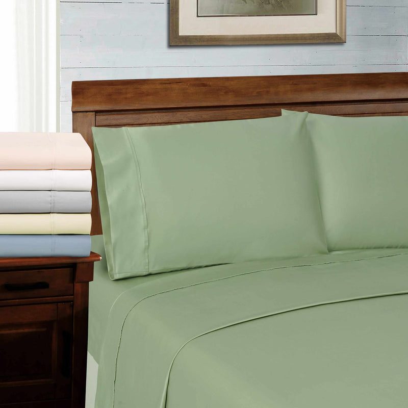 600-Thread Count Tencel Polyester-Blend Plush Deep Pocket Sheet Set