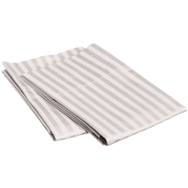 Striped 650-Thread-Count Pillowcases, Premium Long-Staple Cotton, 13 Colors
