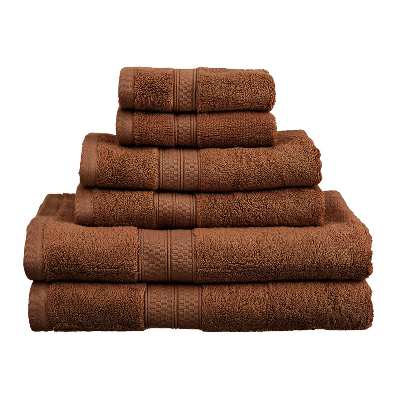Rayon from Bamboo 650 GSM Plush and Absorbent 6-Piece Towel Set