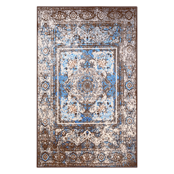 Ezra Area Rug, Oriental, Non-Slip, Latex Backing, Vintage