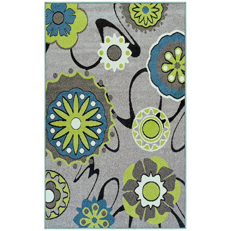 Lana Area Rug, Floral, Abstract, Modern