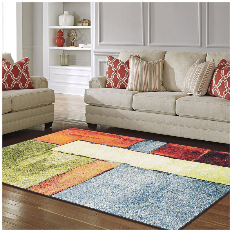 Lilith Modern Abstract Block Pattern Rug