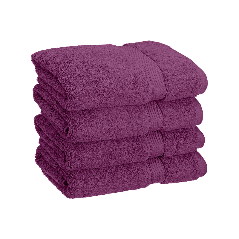 Super Absorbent 4-Piece Cotton Hand Towel Set