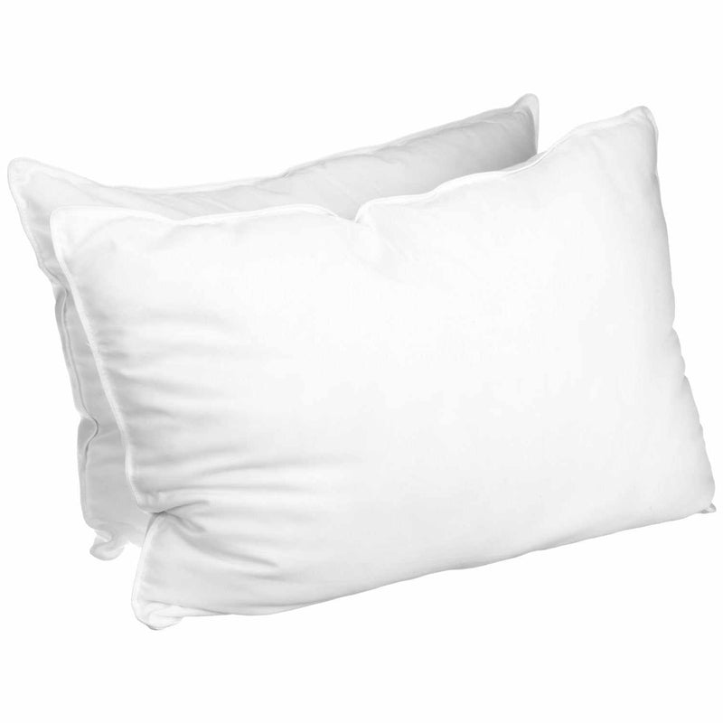 Luxurious Down Alternative White Solid Pillows (Set Of 2)