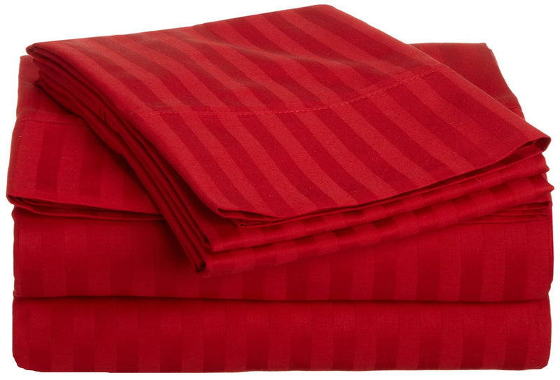 Superior 300 Thread Count Long-Staple Cotton Striped Sheets
