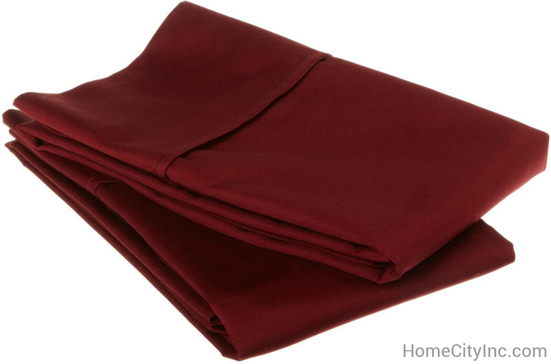530-Thread Count 100% Egyptian Cotton Lightweight Soft Pillowcase Set