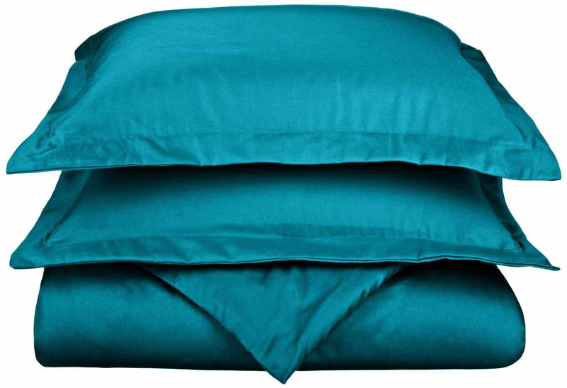 Wrinkle-Resistant 800 Thread Count Cotton Blend Duvet Cover Set
