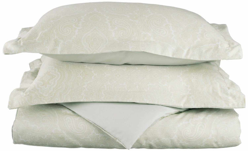 Paisley 600-Thread-Count Duvet Cover Set With Shams, Cotton Rich, 8 Colors