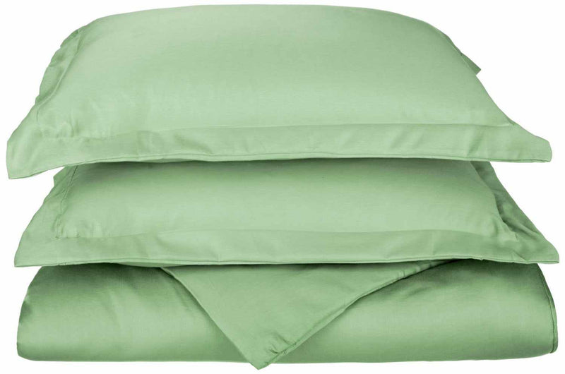 600-Thread Count Cotton-Blend Ultra-Soft Hem-Stitched Duvet Cover Set