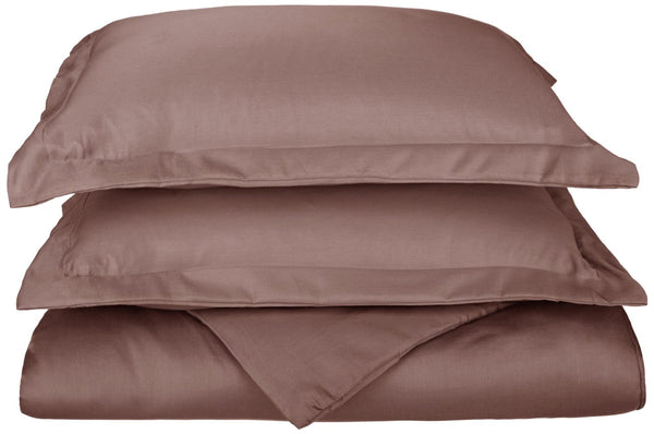 Hem Stitch 600-Thread-Count Duvet Cover Set With Shams, Cotton Rich, 8 Colors