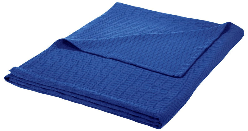 All Season Soft Premium Cotton Throw Blanket, Diamond Design, 10 Colors