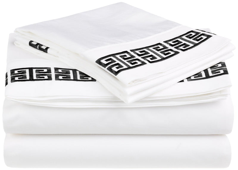 Decorative Kendell Embroidered Cotton Sheet Set