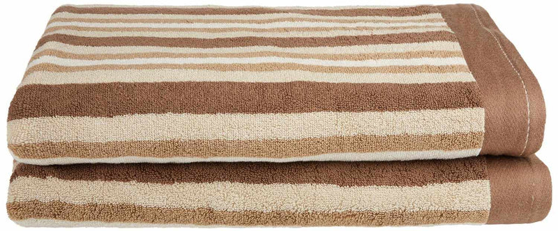 Decorative Striped 2-Piece Bath Towel Set