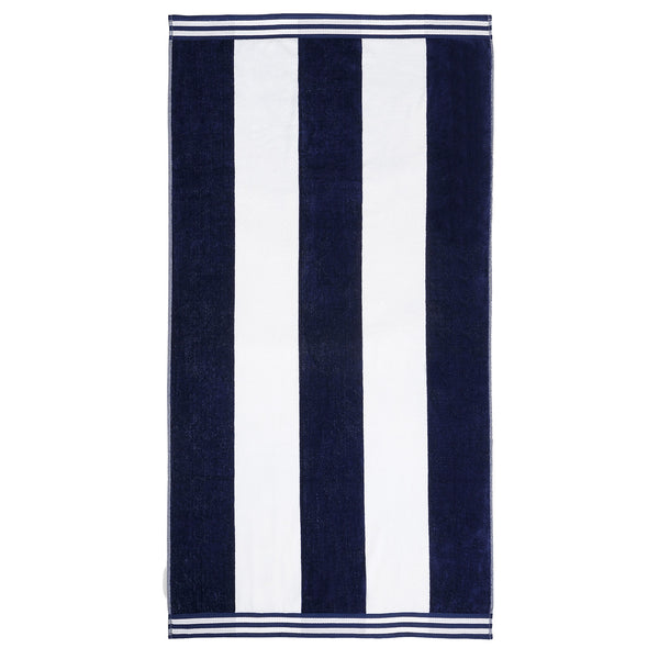 Oversized Jacquard Long-Staple Cotton Beach Towel, Cabana Stripe