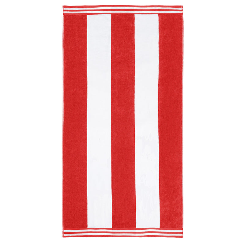 "Coastline Beach Towel, 100% Cotton, Cabana Stripes, Oversized, 34"" x 64"""