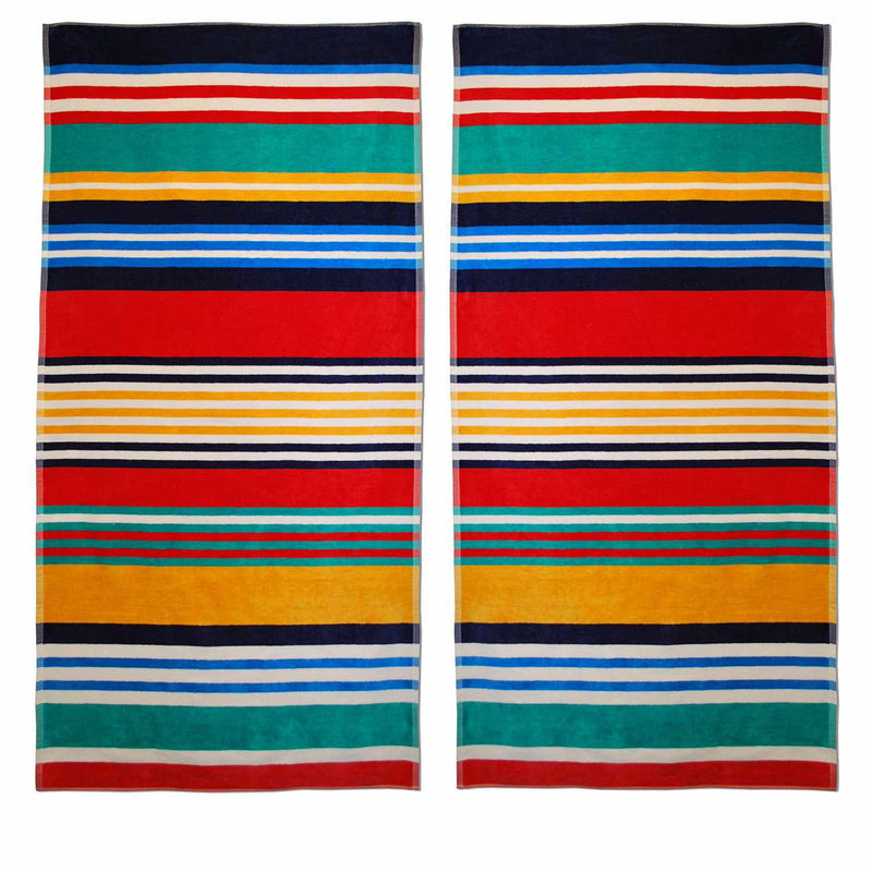 Stripes 100% Cotton Oversized Beach Towel