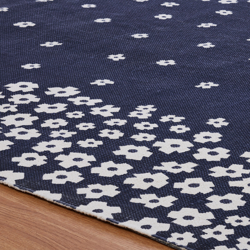Wildflower 100% Cotton Area Rug, Environment Friendly