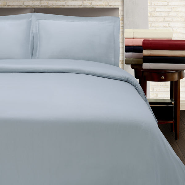 300 TC Full/Queen Duvet Cover Set 100% Cotton Wrinkle Resistant