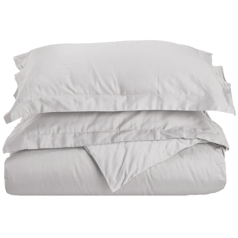 100% Egyptian Cotton Solid Duvet Cover and Pillow Sham Set