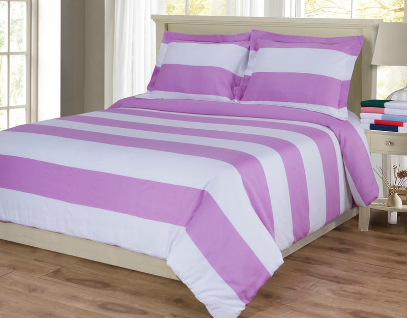 Striped Cabana 600-Thread-Count Duvet Cover Set With Shams, Long-Staple Cotton,